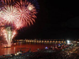 Feux d'artifice Bordeaux 14 juillet 2017
